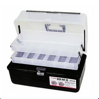 内部2段收纳空间及分隔型收纳盒黑色