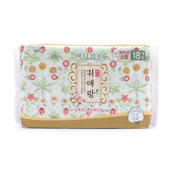 韩国 LG 贵爱娘中草药卫生巾日用210mm*18片/包