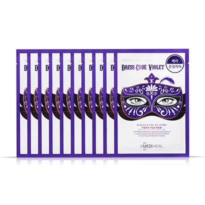 韩国 Mediheal 美迪惠尔(可莱丝)假面舞会紫色面膜10片/盒