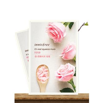 韩国 Innisfree 悦诗风吟补水保湿面膜玫瑰面膜贴
