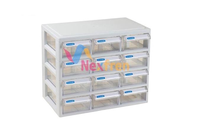 多层多抽抽屉式收纳盒12抽(固定)