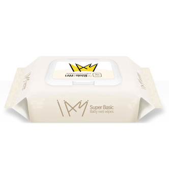 IAM 无香无防腐剂无印花翻盖式婴儿柔湿巾74片(10PACK)