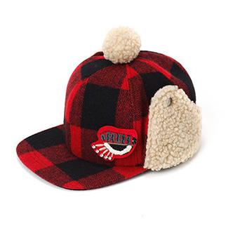 韩国 lapalette 迪迪格子遮耳帽