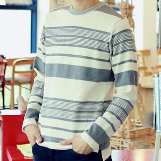 jogunshop JG983/不规则条纹T恤衫