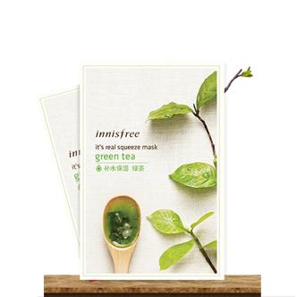 【保税商品】innisfree悦诗风吟真萃鲜润面膜 绿茶 1片
