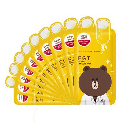 韩国 Mediheal 美迪惠尔(可莱丝)E.G.T针剂紧致提拉面膜line friends限量款10片/盒