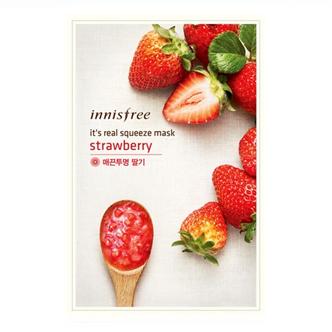 韩国 Innisfree 悦诗风吟补水保湿面膜草莓面膜贴