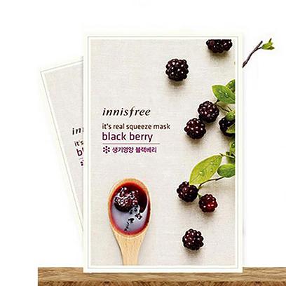 韩国 Innisfree 悦诗风吟补水保湿面膜黑莓面膜贴