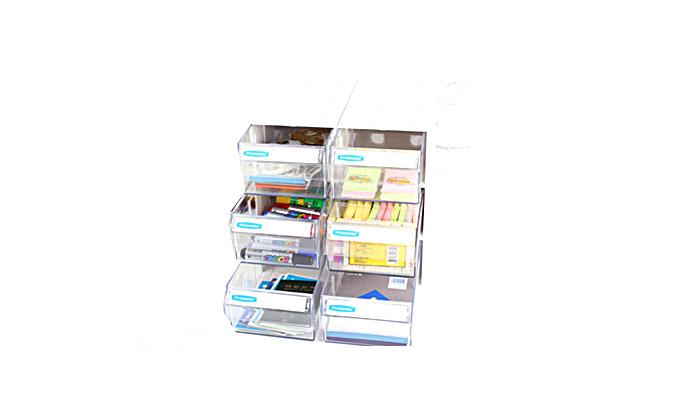 多层多抽抽屉式收纳盒6抽(组装)
