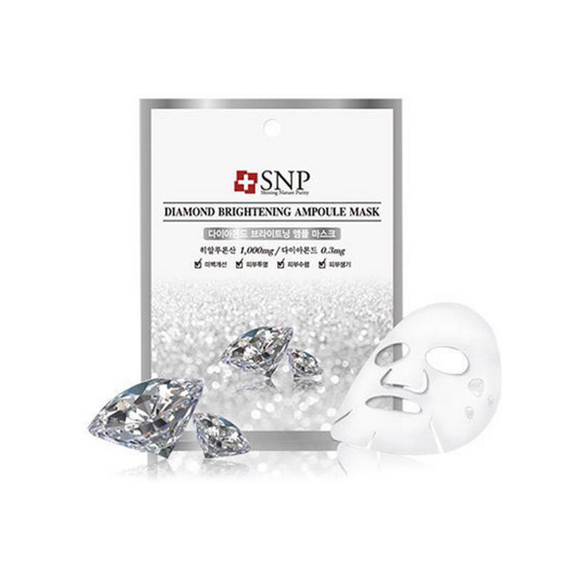 韩国 SNP 钻石提亮补水精华面膜10片/盒