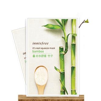 韩国 Innisfree 悦诗风吟补水保湿面膜竹子面膜贴