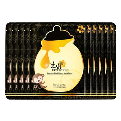 韩国 Papa recipe 春雨黑膜竹炭蜂蜜面膜10片/盒