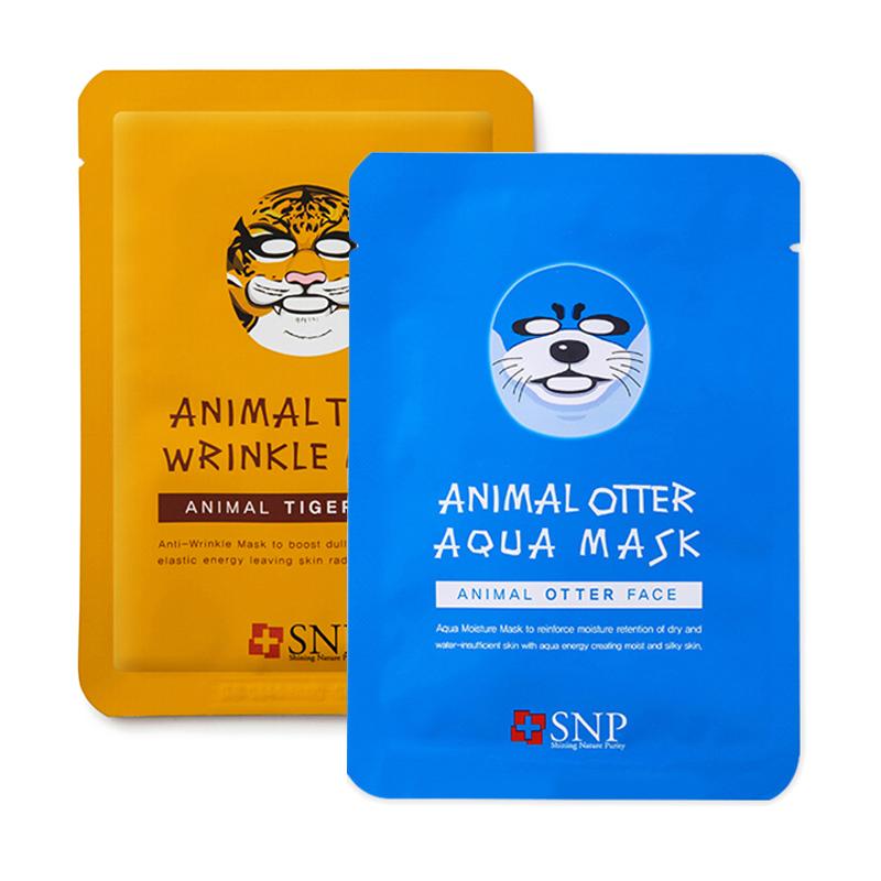 韩国 SNP 动物面膜老虎海豹10片/盒