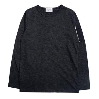 jogunshop JG969/粗纺 MA-1口袋 长袖T恤衫
