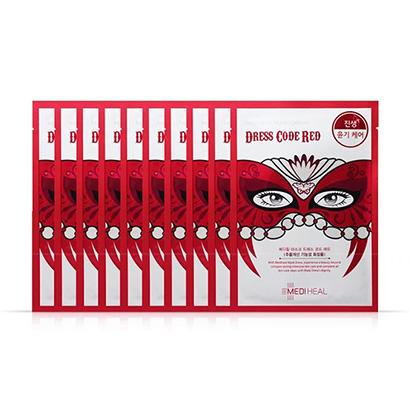 韩国 Mediheal 美迪惠尔(可莱丝)假面舞会红色面膜10片/盒