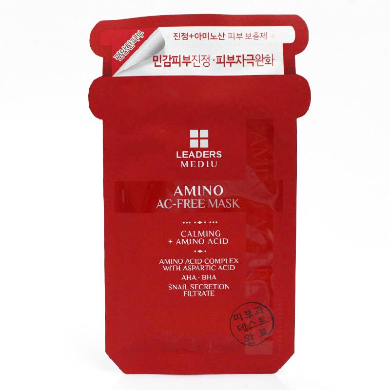 韩国 LEADERS 丽得姿Mediu美蒂优氨基酸蜗牛祛痘面膜10片/盒